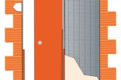 latente pouzro - zárubeň v rovině stěny